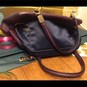 Coach Bags - Coach's Purple Leather Satchel/ updating
